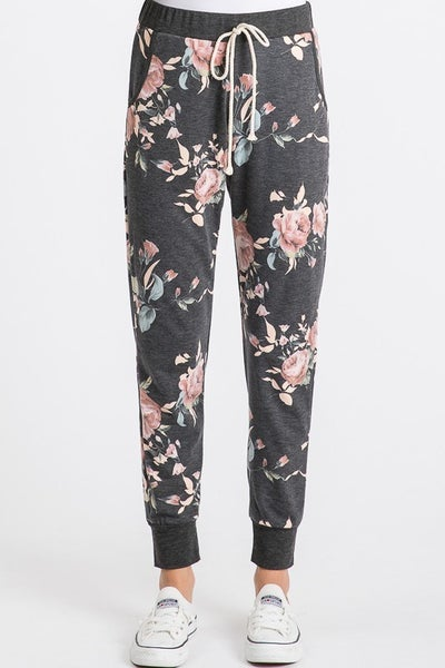 Dark Multi Floral Jogger 40% OFF!!