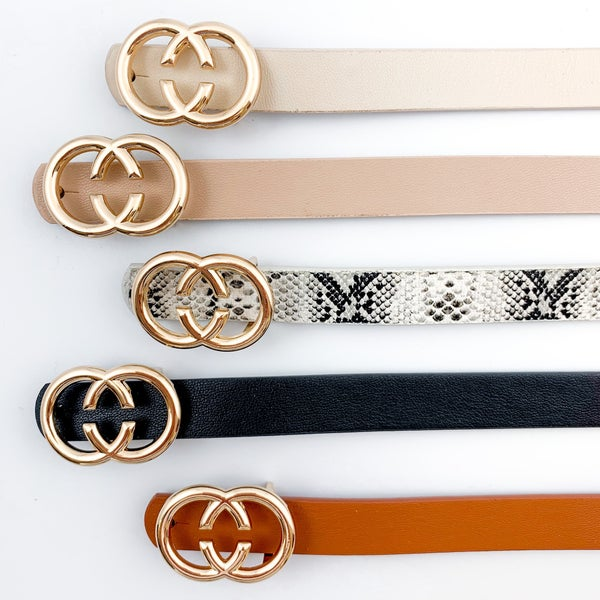 Thin Double C Belts