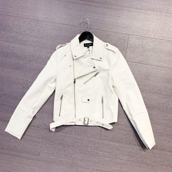 Millie Faux Leather Moto Jacket