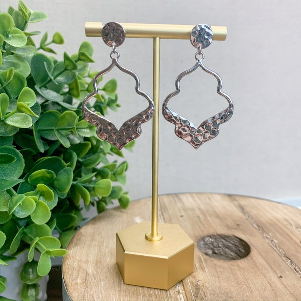 Amira Hammered Metal Earring