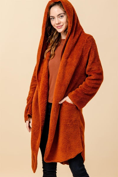 Aubrey Long Sherpa Fleece Wrap ( 2 colors) 40% OFF!!