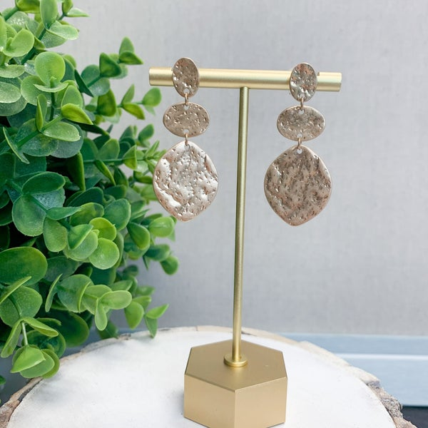 Kim Hammered Drop Earrings