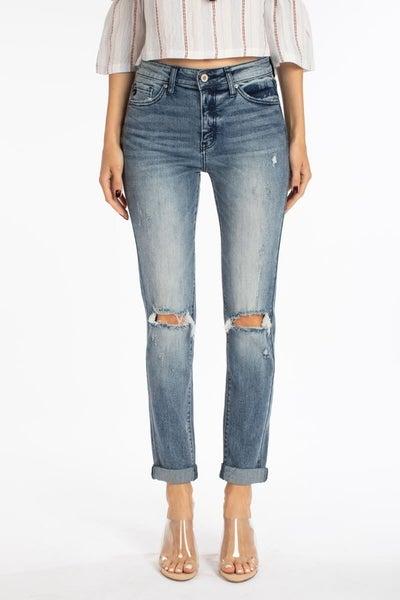 KanCan Medium Wash Mom Jeans