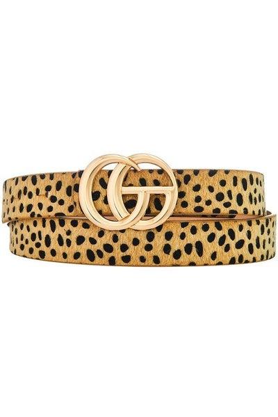 Double G Fur Cheetah Belt