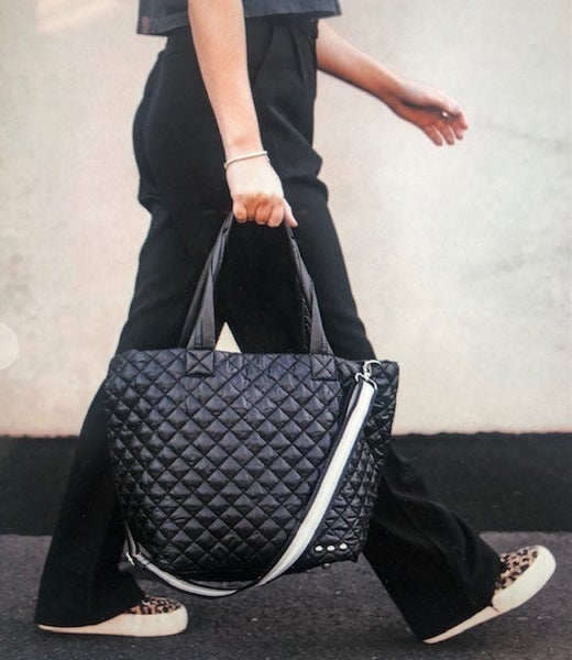 Leah Quilted Tote w/Removable Strap & Clutch