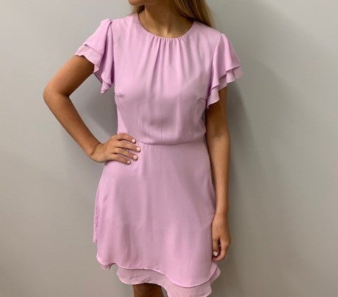 Pastel Ruffle Sleeve Dress