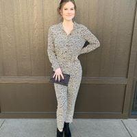 Small Print Cheetah Jumpsuit