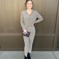 Small Print Cheetah Jumpsuit