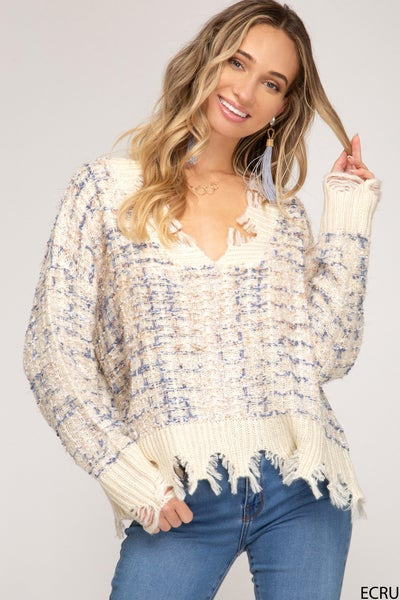 Stella Frayed Sweater