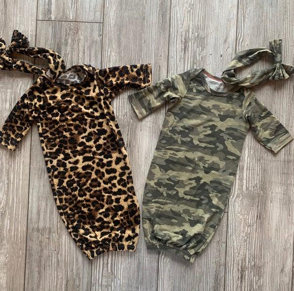 Leopard Gown Set