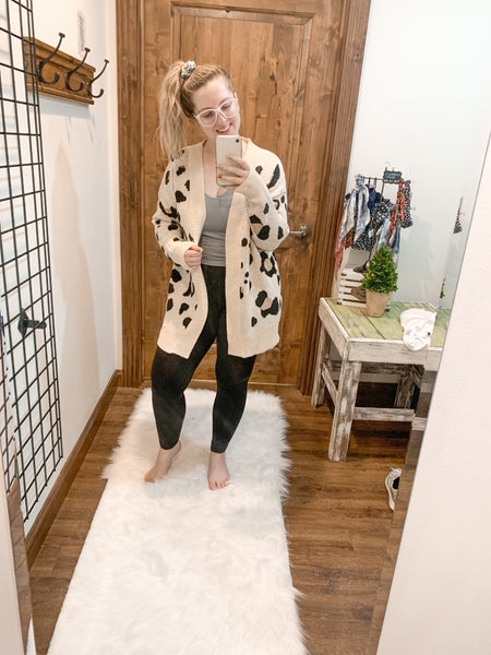 Don't Leopard Me Down Cardigan