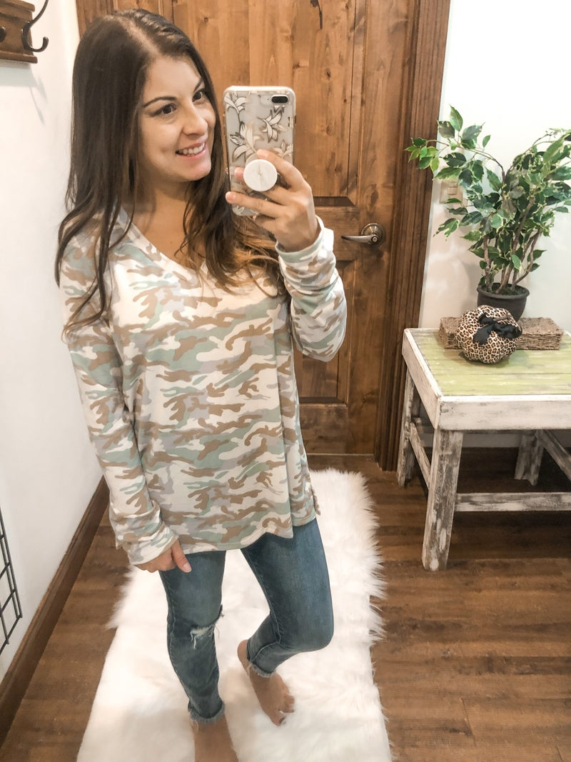 All the Colors Camo Top