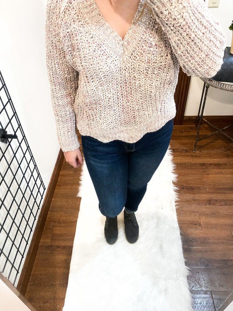 Purple Raindrops Sweater
