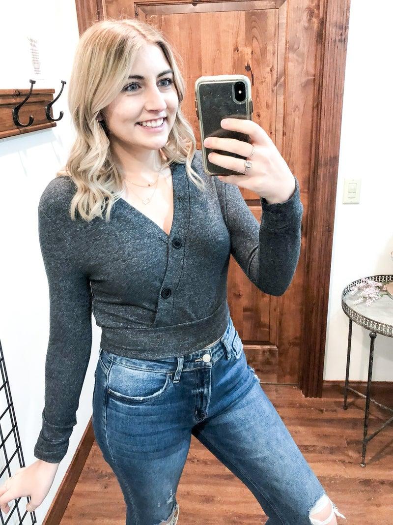 Dark Academia Cropped Sweater