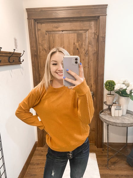 Waffle Knit Staple Top