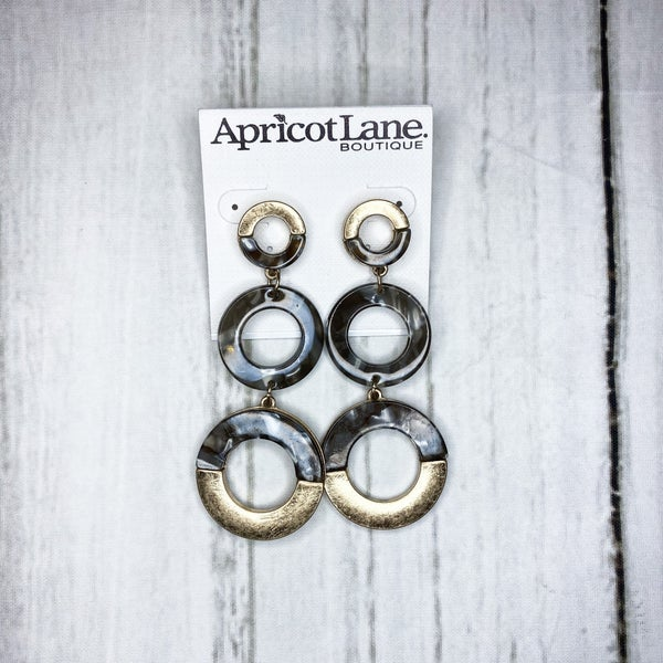 Grey Trio Hoops
