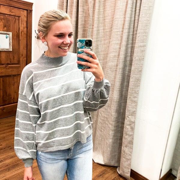White Stripes Sweater