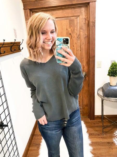 Open Back Twist Sweater