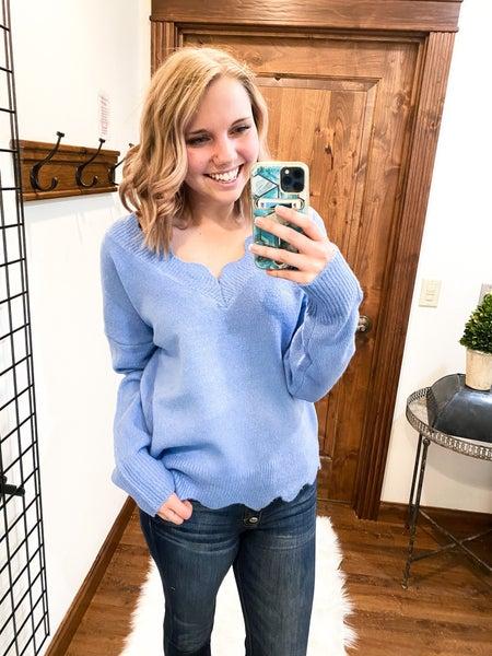 Blue Wave Sweater