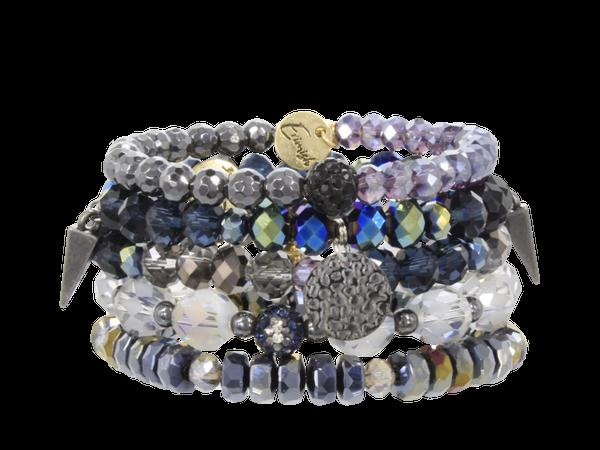 Erimish Mulberry Stack Bracelet Set