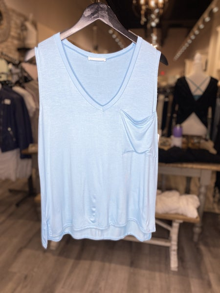 Relaxed Fit V-Neck Muscle Tank