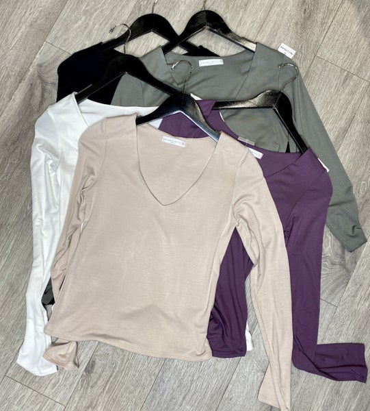 V-Neck Double Layered Top