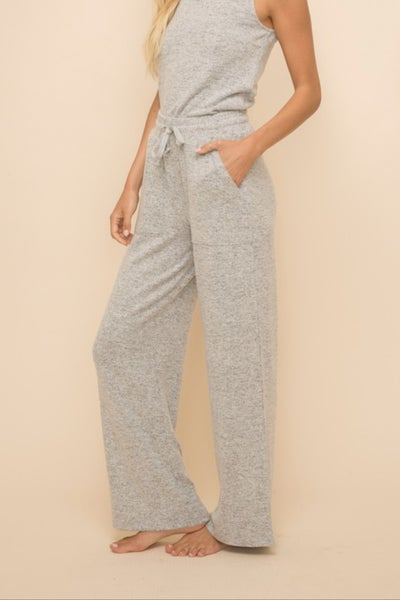 Brushed Knit Wide Leg Pants