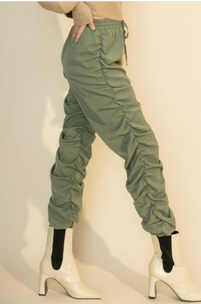 Side Ruched Joggers
