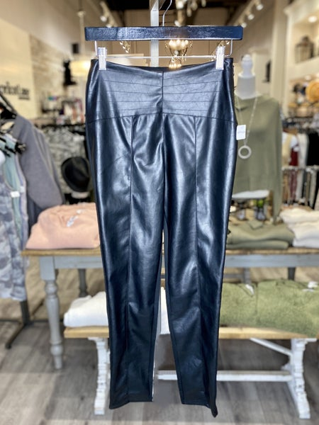 Faux Leather Ponte Pants