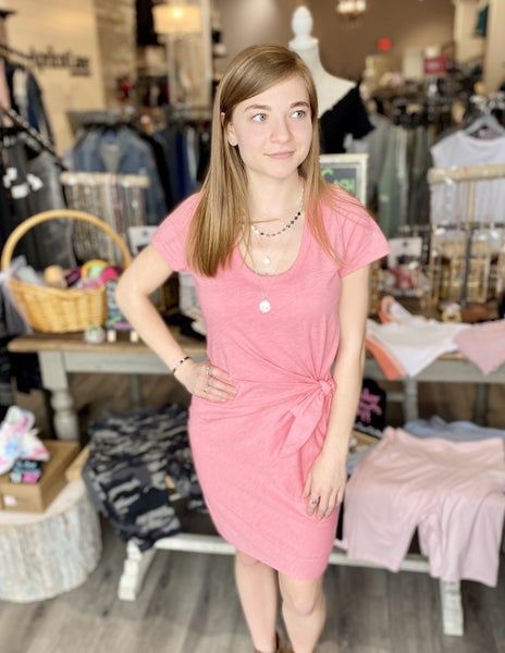 Ruched Dress With Side Tie