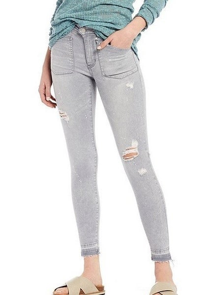 Free People Ivy Mid Rise Skinny Jeans