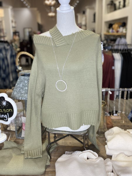 Single Strap Off the Shoulder Sweater