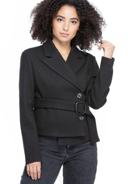 Short Vegan Wool Jacket