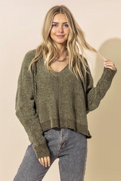 V-Neck Dolman Sleeve Sweater