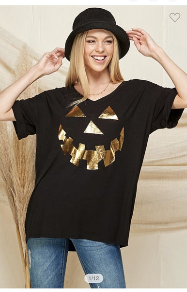 Pumpkin Printed Tee Shirt