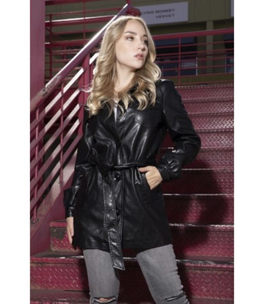 Blazer Style Vegan Leather Jacket