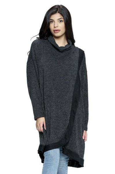 Overlapping Tunic Sweater