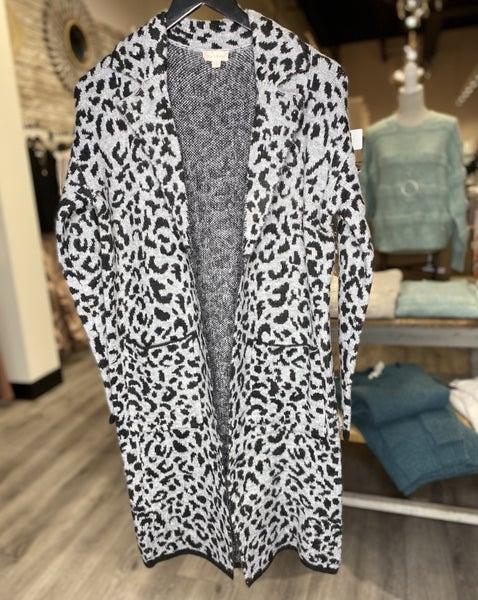 Leopard Sweater Coat