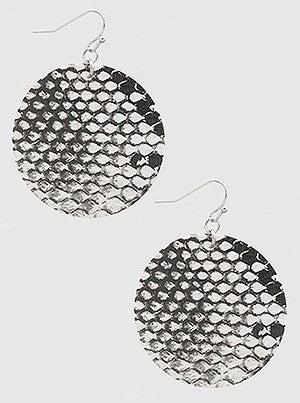 Snake Skin Drop Earrings