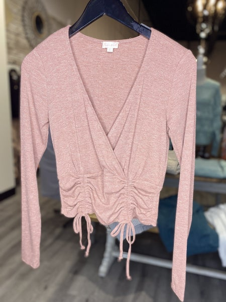 Ruched Waist Knit Top