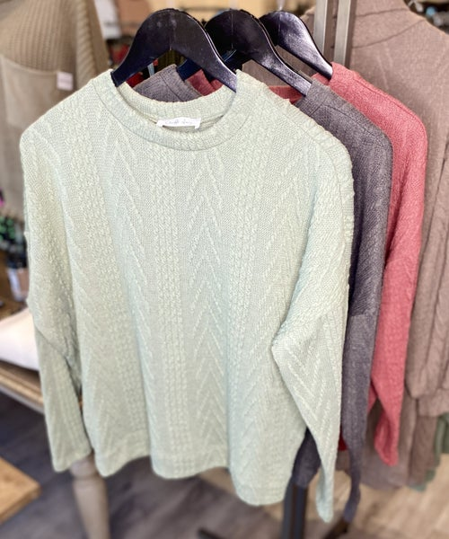 Relaxed Textured Knit Top