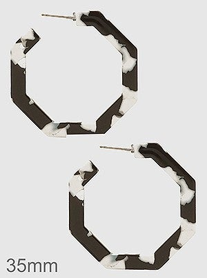 Small Octagon Hoop Earrings