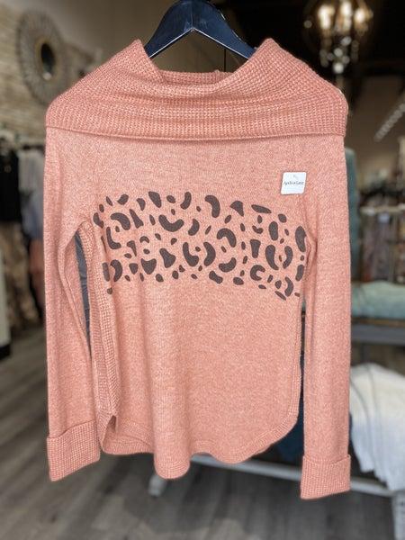 Turtle Neck Leopard Sweater