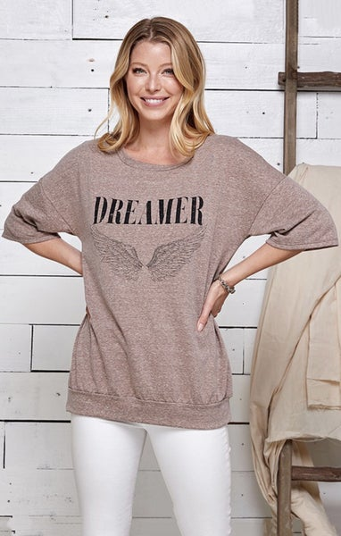 """Dreamer"" 1/2 Sleeve Tunic Tee"
