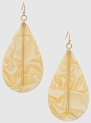 Acetate Tear Drop Earrings