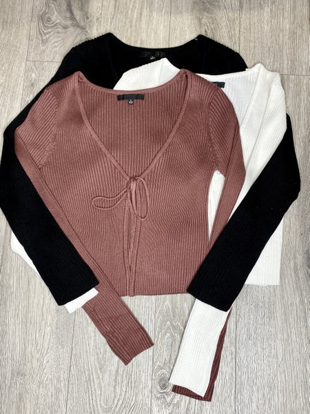 Tie Front Sweater Top