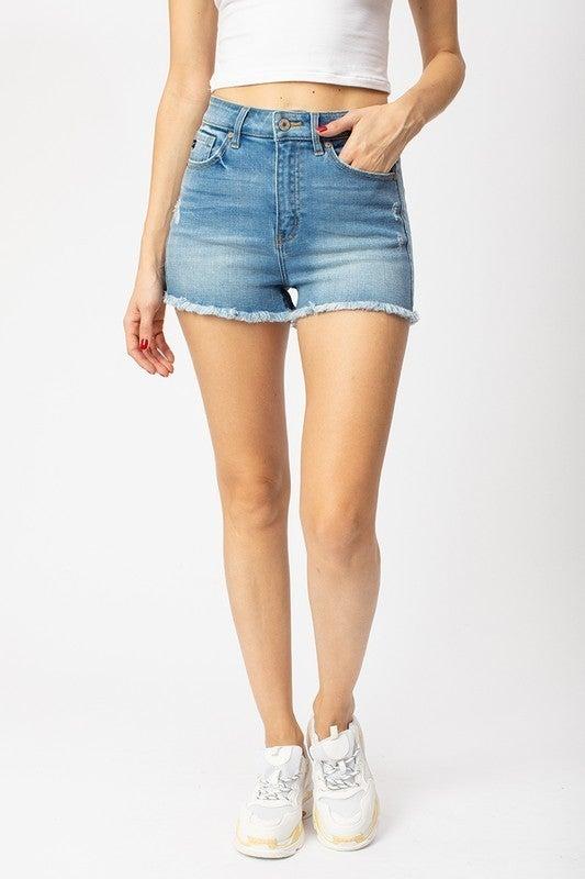 Kan Can High Rise Denim Shorts