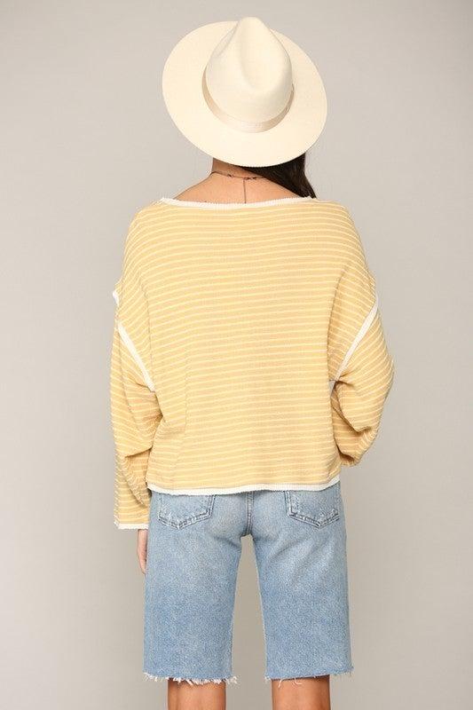 Long Sleeve Round Neck Oversized Top