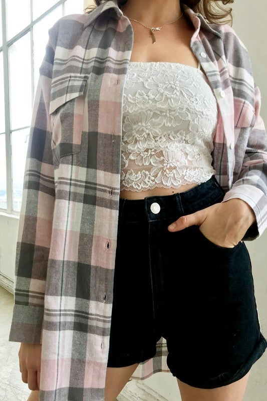 Christa Oversized Flannel Top