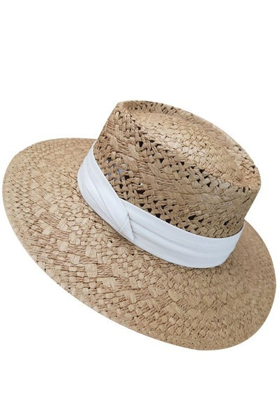 Trendy Vented Straw Panama Hat